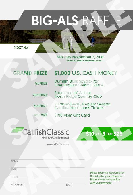 2015 Catfish Classic — Golf to #ChallengeALS Raffle Ticket